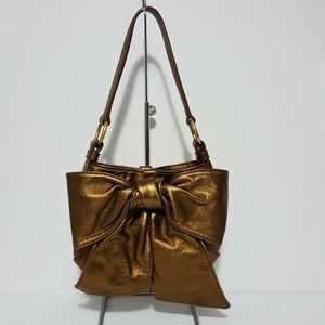 Yves Saint Laurent Rive Gauche Bronze Bow Bag